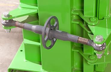 LSM can baler heavy duty door clamp