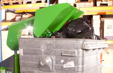 LSM Bin Press reduces waste collection by up to 75%