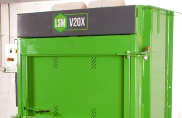 V20X Cross Ram Baler low and narrow
