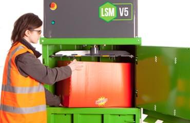 LSM V5 baler large fill chamber