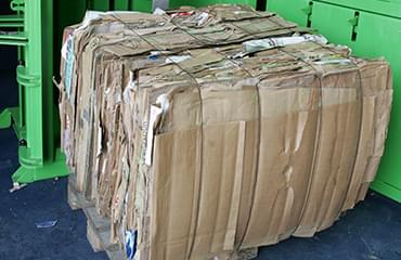 cardboard bale