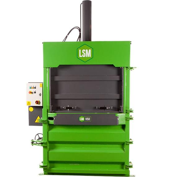 LSM V50 mill size baler with guillotine door