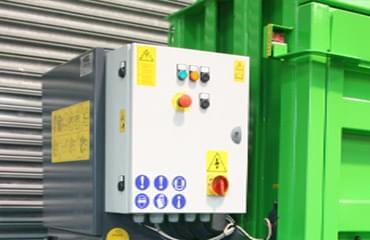 V65 baler external power pack for ease of servicing