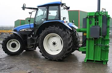 Agri baler easily mounts to tractor or forklift