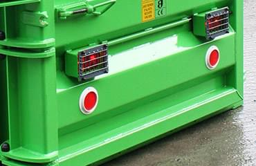 Agri baler: road lights